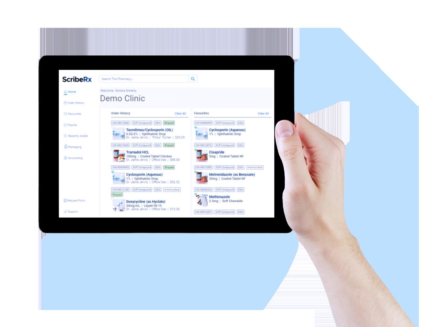 ScribeRX online ordering demo